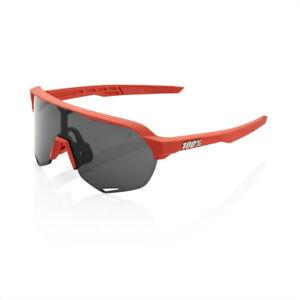 100% S2 Sunglasses Soft Tact Coral Smoke