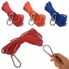 Long Nylon 33ft Rope Cord With Carabiner Clip For Max Magnets Fishing Amp Climbing