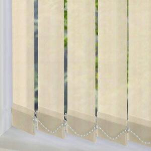 """Excel Made To Measure Vertical Blind Slats *Only 99p* - 89mm/3.5"""" -Cream Fabrics"""