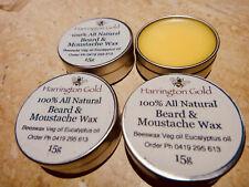 100% ALL NATURAL Harrington Gold Beeswax Beard Wax 15ml