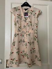 Topshop Button Floral Tea Dress Size 8 BNWT