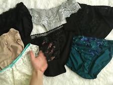 New listing 7 Vtg Embroidered Lace Panties lot Set Size 6 Medium M Nylon Spandex More