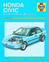 Honda Civic Nov 1991 - 1996 J to N Haynes Manual 3199 NEW