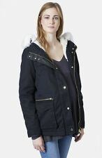 TOPSHOP 'Walter' Hooded Cotton Maternity Parka Lined Hooded Jacket Coat US Sz 12