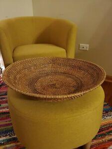Beautiful Vintage Boho Hand Woven Wall Hanging Basket/Decorative Accent Basket