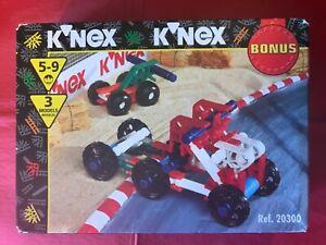 Vintage KNex Kit - 20300 - 3 models wheeled, digger +