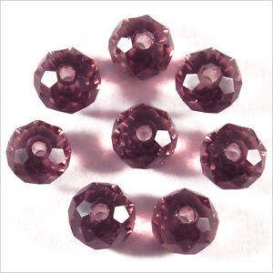 20 Pearls To Faces Washers 6 X 4 MM Crystal Amethyst