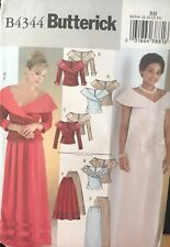 Butterick B4344 Misses' Special Occasion Top and Skirt size 8, 10, 12, 14 uncut