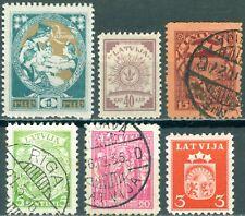Letonia 41 + 48 + 283 * + 120 + 233 + 235 con sello