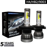 H4/HB2/9003 Coche Faro LED Lámpara Replace Blanco Bombilla 6000K COB 36W ,