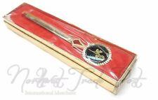 Gold Black Detailed Letter Envelope Opener with Lapel Style Rose Flower Design