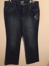 NWT Ann Taylor Jeans Size 10 Slim Fit Bootleg Dark Denim MSRP $50