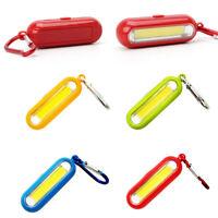 Mini Bright Flashlight Keyring  COB LED Light Torch Keychain Camping Hiking UK