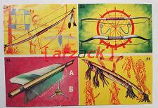 Album LONTANO WEST 2 DARDO 1963 - 4 figurine 49 50 51 52