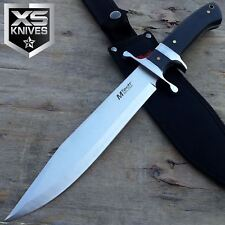 "15"" Mtech Pakkawood Handle Satin Titanium Bolster Full Tang Fixed Blade Knife"