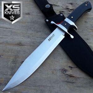 "15"" MTECH PAKKAWOOD Handle SATIN Titanium Bolster FULL TANG Fixed Blade Knife"