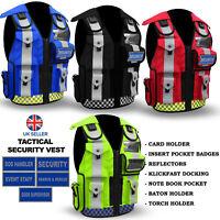 Hi Viz Tactical Security Dog Handler Vest Enforcement CCTV Tac Jacket Ultrawears