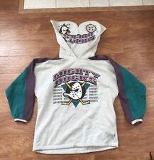Vintage 90's NHL Anaheim Mighty Ducks Hockey Disney Sweatshirt Hoodie L/XL