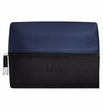 BRAND NEW 100% GENUINE DIOR NAVY & BLACK TOILETRY WASH SHAVING TRAVEL KIT BAG