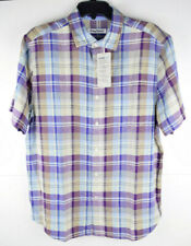 Tommy Bahama La Paz Plaid Purple Mens Button up S/S Shirt S-M $125 NWT!