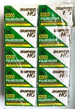 New Listing10 Roll Pack Fuji Fujicolor Super Hg 1600 35Mm Film 36 Exp Expired Nr
