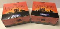 LOT OF 2 LION KING SERIES 2 TRADING CARD BOX SEALED - SKYBOX - 36 PACKS EACH BOX
