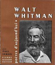 SEGHERS - POETES D'AUJOURD'HUI N° 9 : WALT WHITMAN -1956- POESIE