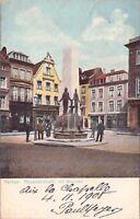 SELTEN color. Foto-AK 1905 @ AACHEN - Alexanderstraße mit Brunnen Hotmannspief