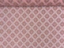 "Peach Pink Damask Muslin Summer Dress Beach Party Voile Cheese Cloth Fabric 54"""