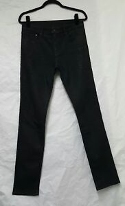 Womens H&M Black Skinny Jeans Size 29/32 Womens Black Jeans Embellished Jeans