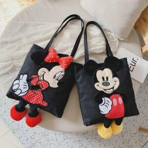 New Cartoon Mickey Mouse Shoulder Bag Women Large Handbag Canvas Shopping Bag