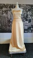 True Bride Sequin Dress (Sand- Size 14) Prom, Ball, Bridesmaid, Cruise, RRP £179