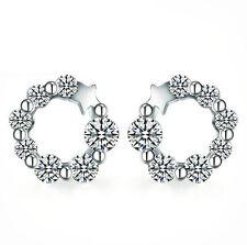925 Sterling Silver Earrings AAA Zircon Ear Stud Charm Women's Fashion Jewelry