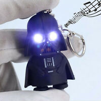 NEW Light Up LED Star Wars Darth Vader With sound Keyring Keychain