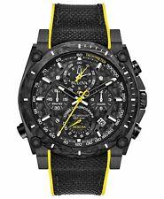 Bulova 98B312 Men's Chronograph Precisionist Nylon Strap Black Dial Watch