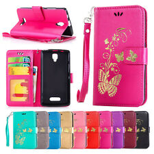 Gold Butterfly printing Wallet Leather Flip Case Cover For Lenovo Mobile Phone