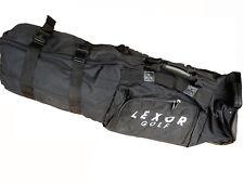 Lexor Black Padded Soft Case Wheeled Golf Club Protective Air Travel Bag