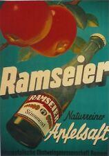 Original Plakat - Ramseier - Apfelsaft