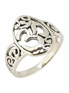 925 Sterling Silver Aum Ohm Om Ring