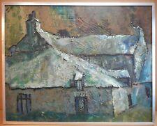 Pembrokeshire Farmhouse. Original Oil by listed Welsh artist Evan John 1970