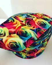 """🎀 Rainbow Roses Ribbon 75mm 3"""" Grosgrain Ribbon 🎀"""