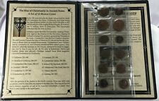 Rise of Christianity in Ancient Rome w 12 ancient Bronze Coins 253 to 383 AD