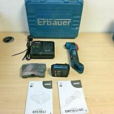 Erbauer EXT 18V Cordless Multi-Tool EMT18-Li-QC + EFC18-Li 4.0Ah Battery *KIT*