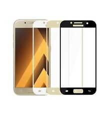 Samsung Galaxy A5 2017 FULL SCREEN FULL COVER 3D Panzerglas Panzerfolie Gold