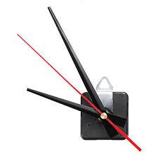 20mm Long Shaft Black & Red Hands Clock Movement Mechanism