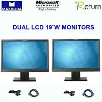 """LCD Dual Matching Monitor 19""""W LENOVO Thinkvision L1951 Professional Widescreen"""