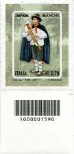 2014 francobollo Europa - Zampogna Strumenti Musicali DX CODICE A BARRE 1590