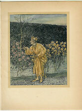 Rackham Tipped-in Color Plate. Wonder Book. 1st US ed. Midas.
