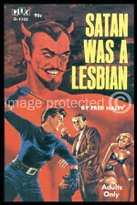 Satan Was A Lesbian Vintage Pulp Novel Cover Art Poster 18x24