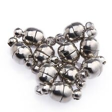 10 Sets Silver Plated/Gold Plated Round Ball Magnetic Clasps 6mm/8mm To Choose